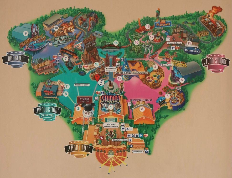 Mappa Walt Disney Studios