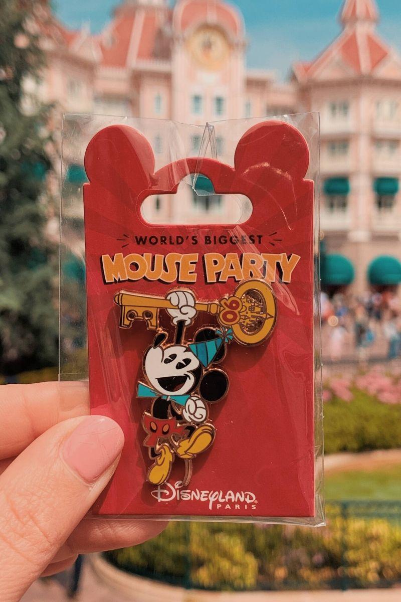 Mouse Party pin Spilla Disneyland Paris